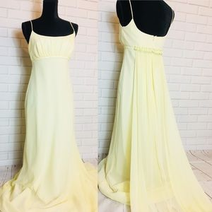 Michaelangelo yellow bridesmaid/prom maxi dress 6